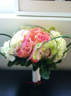 #Orchid, #Roses and #Hydrangeas #Bouquet