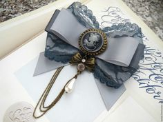 Купить Коллекция брошей Мадам Бовари. - серый, брошь, брошь-орден, брошь текстильная