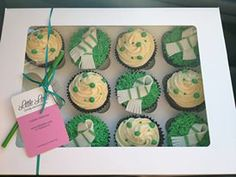Celtic football cupcakes from Little Lette Cakes