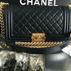 Giving Away RARE  Black Calf Calfskin I wanna make someone very happy for christmas :) giving away my CHANEL 2015 Black Calf Calfskin Quilted Old Medium Le Boy Flap Bag . Just follow intrustions . Ends dec. 18  1) Like listing 2) Share listing  3) comment email CHANEL Bags Shoulder Bags