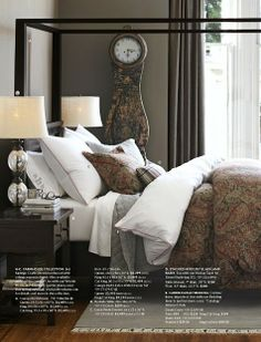 Pottery Barn bedding. Love the gray flannel quilt.
