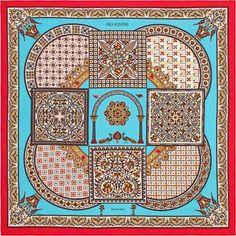 La Maison des Carrés Hermès   Ciels Byzantins Hermes Paris, Scarf Design, Hermes  Scarves eb534c2cd41
