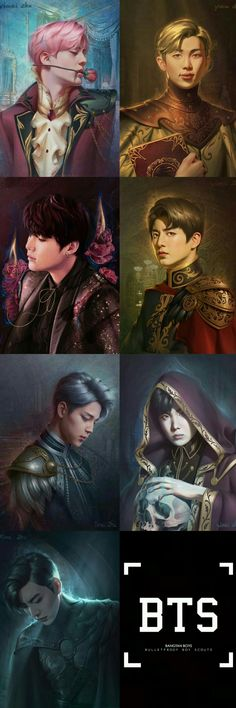 bts fanart ♡ they were all kings in their past life and now they came in like princes. like dude what? - damn, anyone who knows the artist please credit when you pin this! Namjoon, Bts Taehyung, Bts Bangtan Boy, Bts Jungkook, Foto Bts, Bts Photo, K Pop, Bts Pictures, Photos