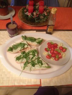 Melinda did it again-Blue cheese paste with rocket and the morning coffee