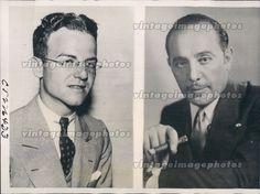 1933 Hayden Mills Harry Jameson Business Men Backer Mattern Flight Press Photo