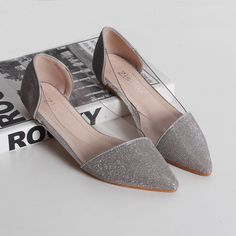 Find More Women's Flats Information about New 2015 Trasparent With Crystal Glitter Leather Ballet Flats Wholesale Brand Design Women Fashion Loafers Wedding Shoes,High Quality Women's Flats from Toptrade Co.,ltd on Aliexpress.com