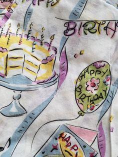 Nick And Nora Pajama Set PJs XL  Birthday Cake Top Bottoms Stork New Year #NickNora #PajamaSets #Birthday