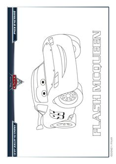 Coloriage Disney Cars 2 Flash McQueen - Hugolescargot.com
