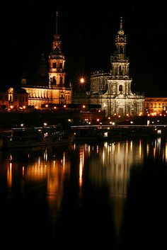 Night in Dresden, Germany