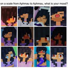 Lol mine is the first on the last row . {Credit to @honestlyaph } Follow her . . Note: school today. Won't post much . . Tags #aphmau #aphmaumemes #aphmaufun #aphmau_