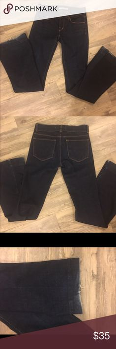 Dark wash J Brand Love story Jeans They have some wear at the ends but are in overall good condition. Have been seen on many celebs. Anthropologie Jeans