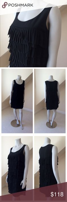 """NWT Cynthia Steffe Dress NWT Cynthia Steffe Dress...modern day flapper!...overlapping layers of pleated chiffon (poly) over silk!....gorgeous movement, flattering and comfortable, too...fully lined...hand wash. Approx length 34"""". Retail $375 Cynthia Steffe Dresses Mini"""