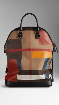 The Small St Ives in Hand-painted Canvas Check | Burberry