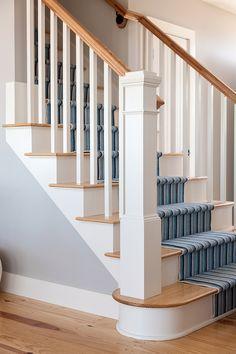 Best Newel Post Light Oak Floors W Dark Railing Staircase 400 x 300
