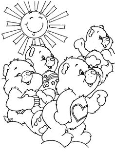 The Care Bears Coloring Pages FREE