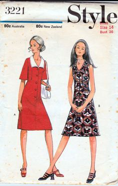 70s Vintage sewing pattern Style 3221 by allthepreciousthings, $8.00