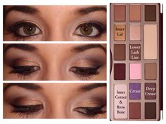 Eyeshadow For Brown Hazel Eyes an Natural Eyeshadow Tutorial For Green Eyes on Makeup Artist Near Me. Pink Eyeshadow Looks James Charles Palette opposite The Makeup Game Llc Chocolate Bar Makeup, Chocolate Bar Palette Looks, Chocolate Bar Eyeshadow, Chocolate Bars, Too Faced Eyeshadow, Too Faced Makeup, Eyeshadow Looks, Natural Eyeshadow, Eyeshadow Styles