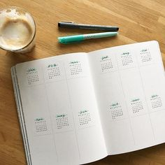 Bullet journal future log layout, bullet journal yearly, creating a