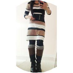 Sweater Dress, Boot Cuffs ! Modest Outfit Ideas