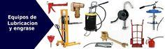 Diferentes equipos para la lubricacion de maquinaria industrial