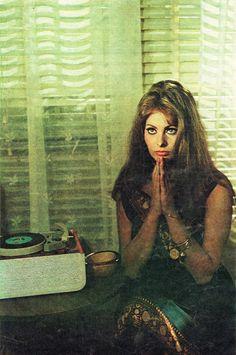"French actress Sophia Loren. Image from ""Cinema"" magazine (November 1967)"