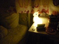 [white rabbit light childrens room lighting Rakuten rabbit mini night lamp |