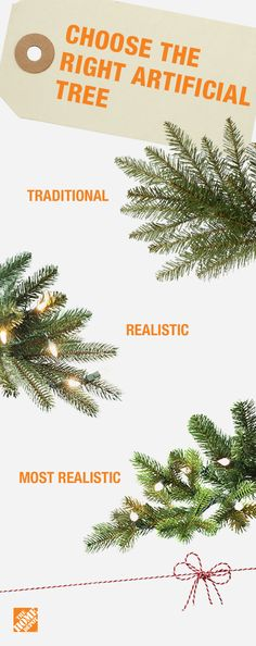 Find the perfect artificial tree for your home. When shopping for the right one, check for the tree's needle style. PE plastic trees appear more realistic and are often enhanced with a refined tip color for added realism. PVC plastic trees are inspired by evergreen trees with soft, bristle-like tips, and will appear more traditional. Click to shop artificial trees.