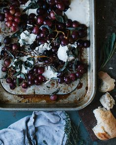 Roasted Grapes With Cheese And Herbs Recipe | TheNest.com
