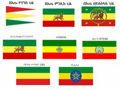 In the current flag --> The emblem is intended to represent both the diversity and unity of the country.  Blue represents peace, the star represents diversity and unity, and the sun's rays symbolize prosperity.  The green recalls the land, yellow stands for peace and hope, and red is symbolic of strength. Ethiopian Flag, Ethiopian Beauty, Ethiopian People, Historical Pictures, Historical Sites, History Of Flags, Haile Selassie Quotes, History Of Ethiopia, Reggae Art