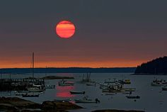 Sunset on the Maine coast, still one of my favorite sites ever.