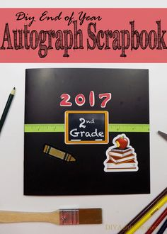 The end of the school year is bittersweet. Let your child pull out this DIY end of year autograph scrapbook when missing school or friends this summer.