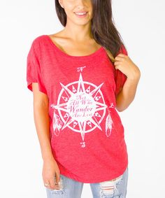 Look at this Heather Red Wanderer Scoop Neck Tee on #zulily today!