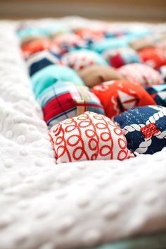 Baby Boy Nautical Puff Quilt by TheBananaSandwich on Etsy