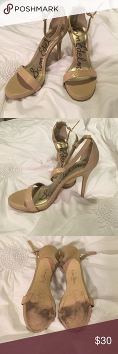 Sam Edelman Elenor Sandals Worn 3-4 times, scuffs on heels and a few knicks in the leather on the heel. Overall great shape! Sam Edelman Shoes Heels