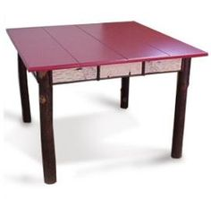 "Saranac Game Table  41"" Square x 30""H. 4"" birch and twig apron."