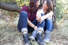 Lesbian couple in denim jeans | Southern California Valley Lesbian Engagement | Equally Wed - LGBTQ Weddings