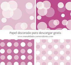 printable paper free. Papel decorado topos y lunares http://manualidades.euroresidentes.com/2014/02/papel-de-topos-para-imprimir.html