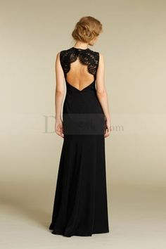 Long Black Mother of the Bride Dress with Draped Skirt