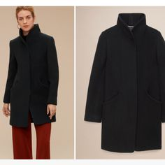 """Wilfred Cocoon Coat. Very beautiful and impeccably made. """"Virgin wool & cashmere. Fabric made in Italy."""" Size XS. $150"""