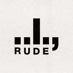 RUDE - brand identity