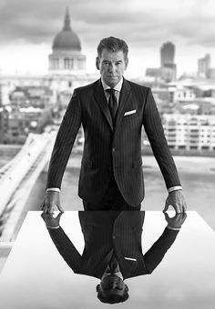 Photography Inspiration - Men Portraiture - Power Shot - Business Headshot - Black & White - On Location - Outdoor Photography - Reflection