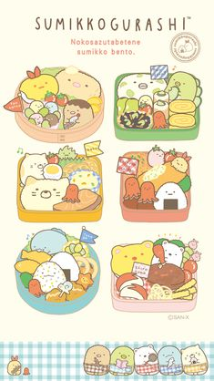 which bento box do you want? Cute Food Drawings, Cute Animal Drawings Kawaii, Kawaii Drawings, K Wallpaper, Kawaii Wallpaper, Cartoon Wallpaper, Arte Do Kawaii, Kawaii Art, Cute Food Art