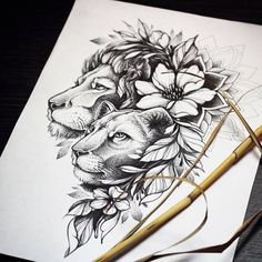 dessins de tatouage 2019 by - Tattoo Designs Photo Couple Tattoos, Leg Tattoos, Body Art Tattoos, Sleeve Tattoos, Tattos, Tattoos Skull, Flower Tattoo Designs, Flower Tattoos, Animal Mandala Tattoo