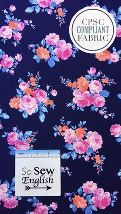 e3378832cdb 2-4 yards The Patsy Floral - Double Brushed Poly Spandex - By The Yard
