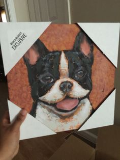 Boston Terrier canvas painting from World Market