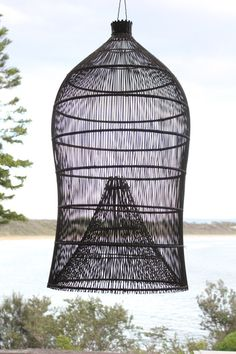 Fish Trap Light Shade from Culburra House in New South Wales, Australia | Remodelista
