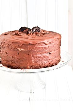 four layer chocOlate cake with oreo cream filling