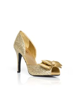 Sparkle and shine in these peep toe heels.