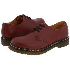 Dr. Martens 1461 3-Eye Gibson Lace up casual Shoes ($105) ❤ liked on Polyvore featuring shoes, print shoes, leather lace up shoes, real leather shoes, pattern leather shoes and laced shoes