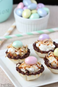 Banana Coconut Cream Bites - quick, easy and perfect for Easter!